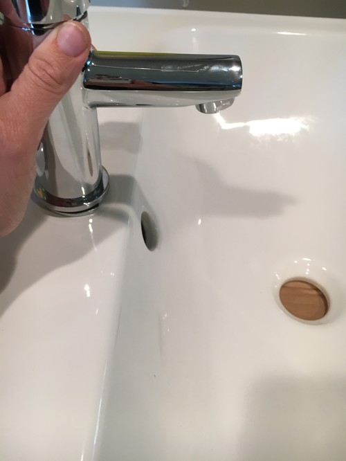 Guy At The Plumbing Supply Place Sold Me The Shorter Spout, And I Knew I  Could Exchange It But To Me It Looks Short, Even On This Sink: