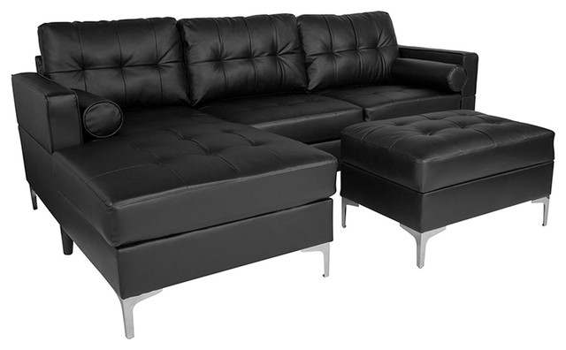 Offex Upholstered Tufted Back Sectional