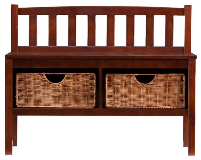 Astonishing Bench W Storage Baskets Pdpeps Interior Chair Design Pdpepsorg