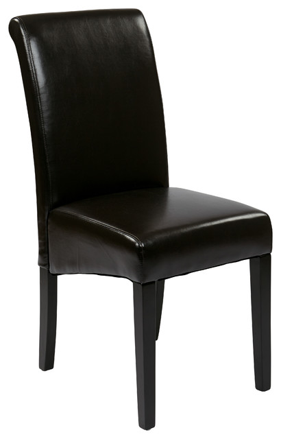 Osp Designs Parsons Chairs Espresso Faux Leather KD Set  : transitional dining chairs from www.houzz.com size 410 x 640 jpeg 27kB