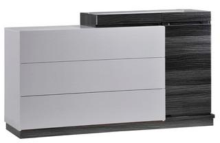 Global Furniture Dresser, Silver Line and Zebra Gray
