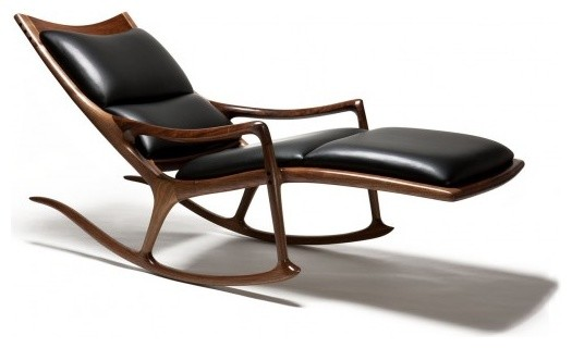 Rocking Chair Chaise Lounge By Sam Maloof Woodworker Inc Contemporary Chicago Gallerique