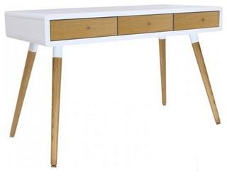 Scandinavian Desks scandinavian white and oak 3-drawer writing desk - scandinavian