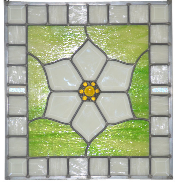 Stained Glass Window Panel For Those Loving Gardens Blossom