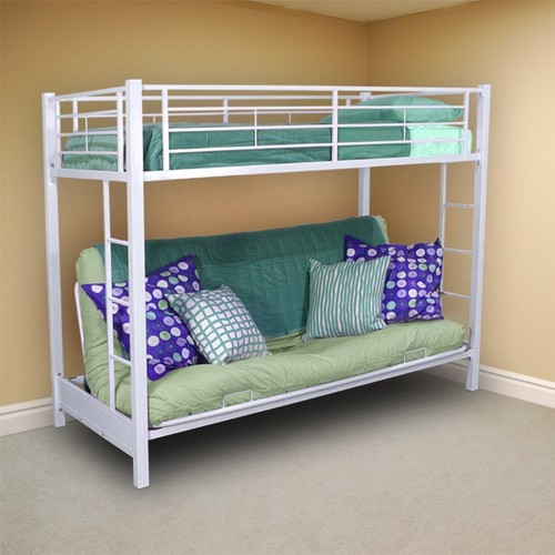 Twin Bunk Bed Over Futon Sofa contemporary kids beds