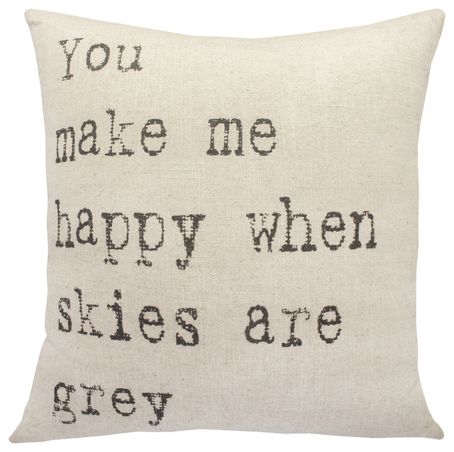 Grey Skies Throw Pillow. -2
