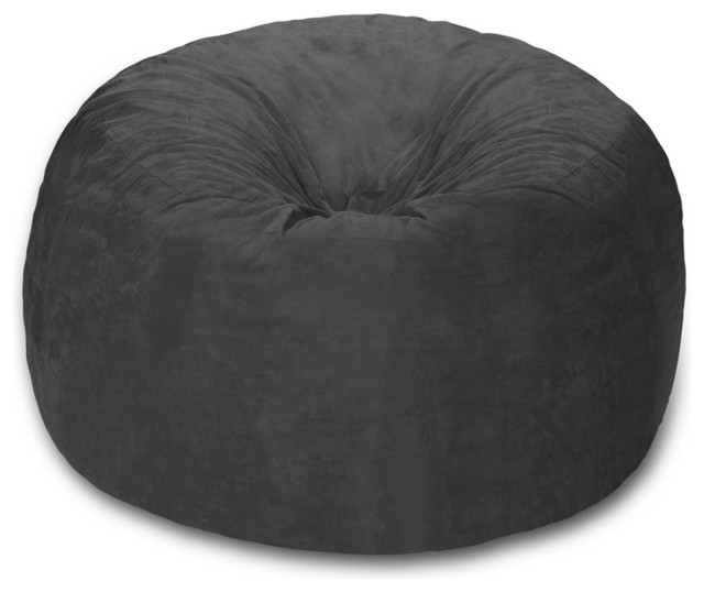 Brilliant Giant Bean Bag 6 Chill Sack Charcoal Micro Suede Ibusinesslaw Wood Chair Design Ideas Ibusinesslaworg
