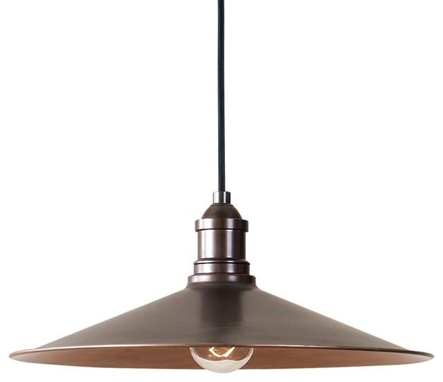 Industrial Retro Copper Finish Pendant, 1-Light Metal Dome.