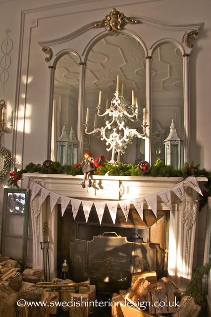swedish christmas fireplace traditional