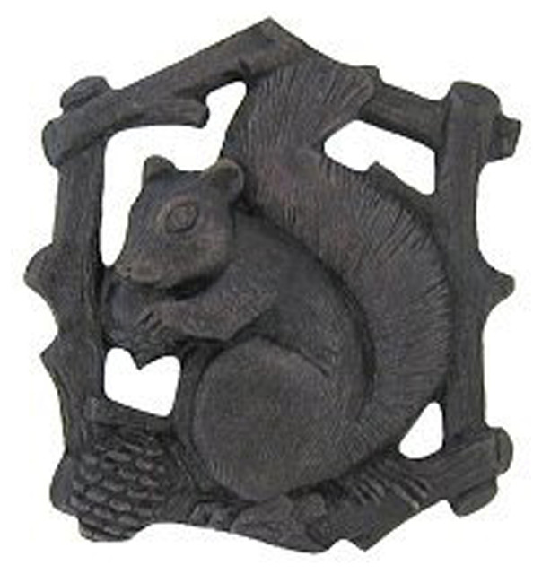 Notting Hill Decorative Hardware - Grey Squirrel Knob Dark Brass Left Side - View in Your Room ...