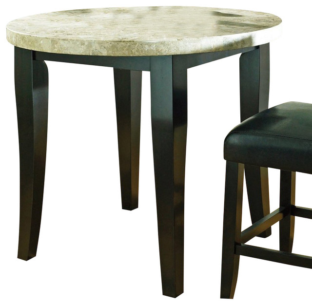 Steve Silver Monarch Marble Top 40 Inch Round Counter Height Table
