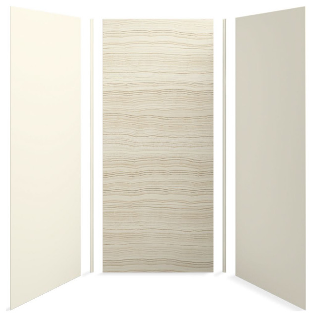 "Kohler Choreograph 42"" X 42"" X 96"" Shower Wall Kit, Veincut Biscuit"
