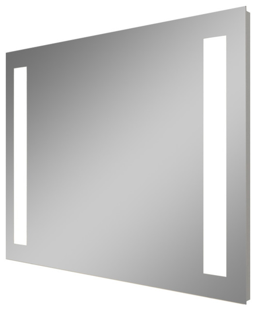 Skylar Electric LED Lighted Bathroom Mirror Horizontal 53x42 Contemporary