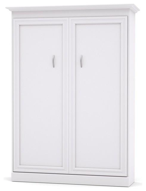 Bestar Versatile By Bestar 64&x27;&x27; Full Wall Bed, White.