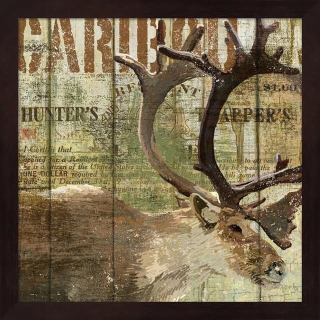 Open Season Caribou by Art Licensing Studio Framed Art, 13 25