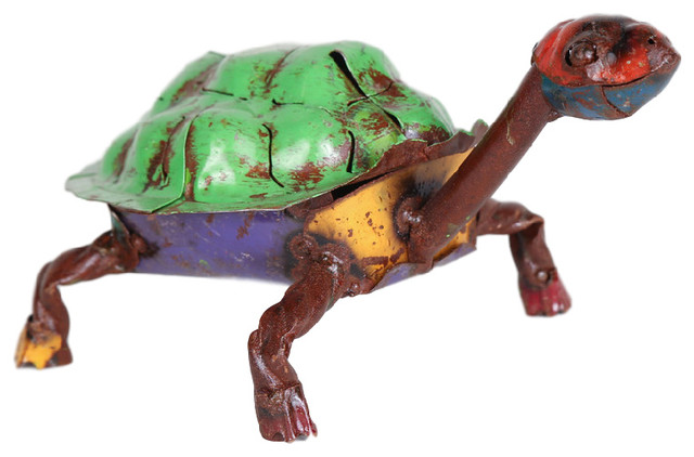 Recycled Metal Turtle Rustic Garden Statues And Yard