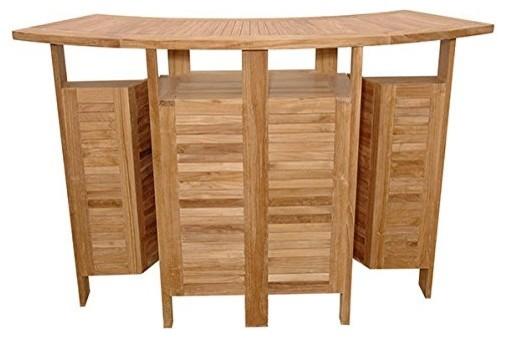 Perfect Teak Foldable Bar Table
