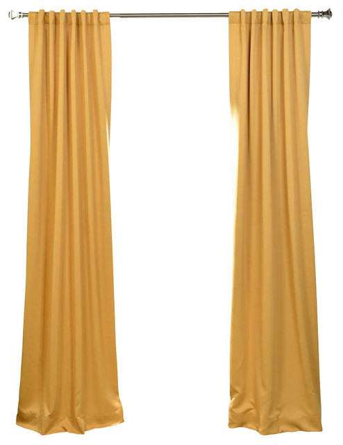 "Marigold Blackout Curtain, Set Of 2, 50""x84""."