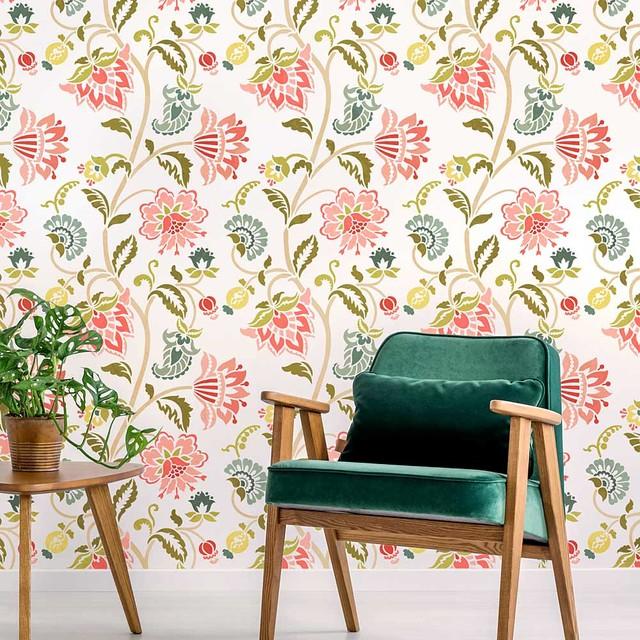 Jacobean Allover Wall Stencil Diy Floral Stencil Stencils For Home Makeover