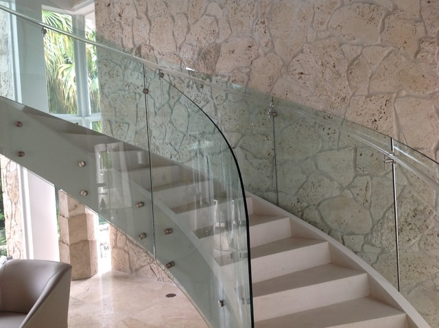 Curved Glass Railing Custom Curved Glass Stair