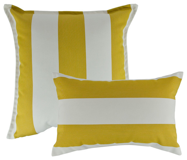 All Modern Outdoor Pillows : Austin Horn Classics; Sunbrella - Austin Horn Classics Sunbrella Cabana Citron Combo Outdoor ...