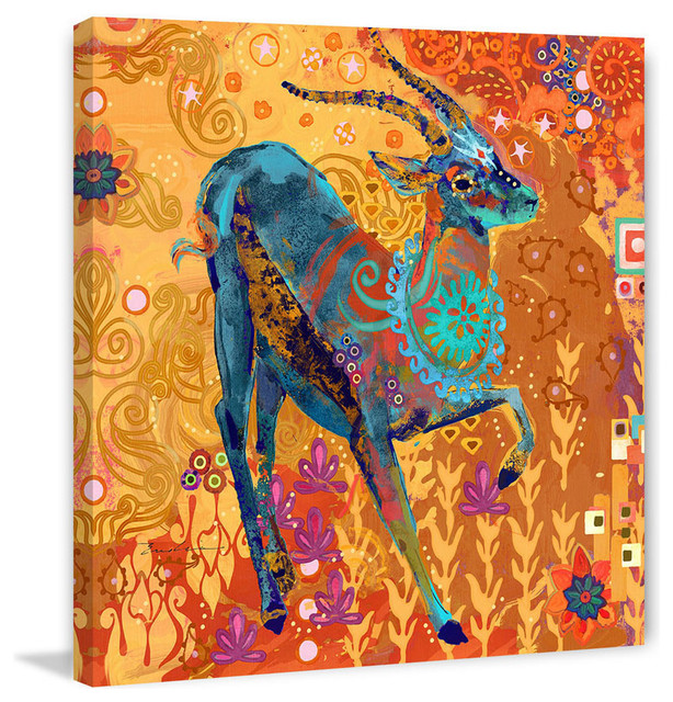 Marmont Hill Gazelle of Samburu Evelia Painting Print on Canvas