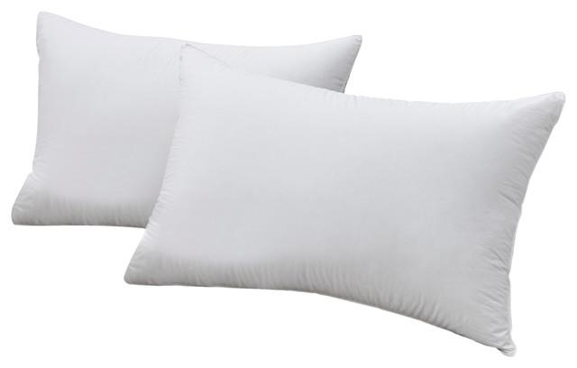 850 Fill Power Siberian White Goose Down German Batiste Pillow, Queen