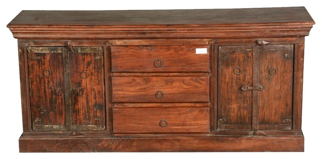 Rocky Mountain Rustic Reclaimed Wood Storage Cabinet.