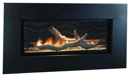"""42"""" Artisan Vent Free Scc See-Through Linear Fireplace, Natural Gas."""