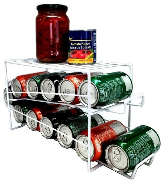 Fridge Can Dispenser Rack - Pantry And Cabinet Organizers ...
