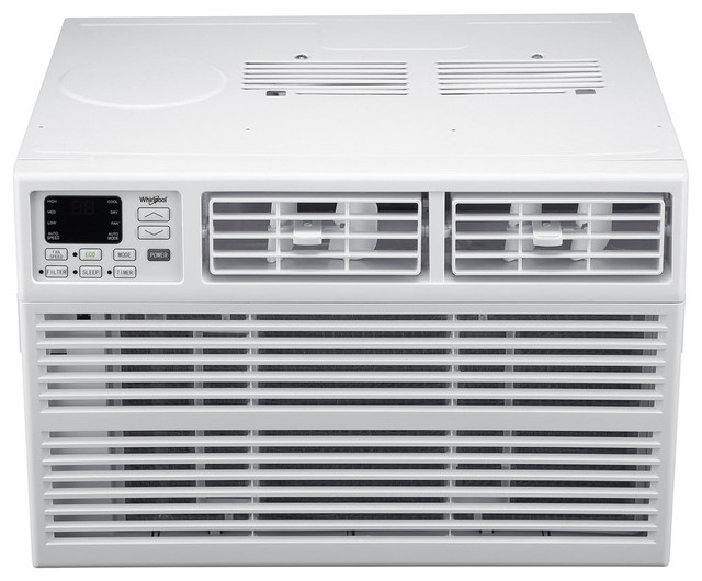 Whirlpool Energy Star 6,000 Btu 115v Window-Mounted Air Conditioner With Remote.