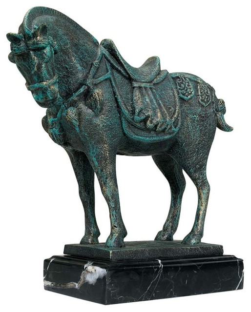 Shop Houzz Design Toscano Ancient Tang Horse Iron Statue