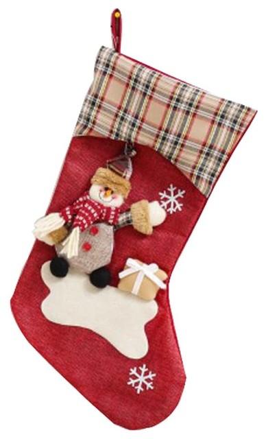 Lovely Funny Children\'s Christmas Stocking Big Gift Bag- Santa Claus