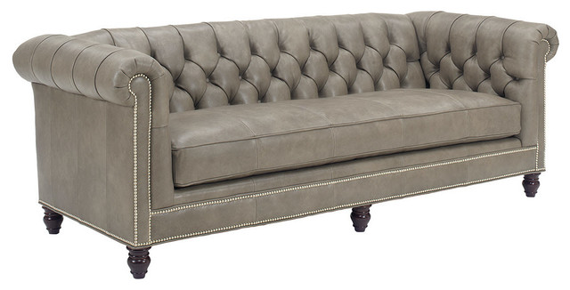 Manchester Leather Sofa Traditional
