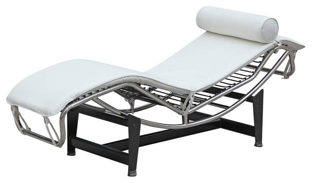 Adjustable Chaise, White.
