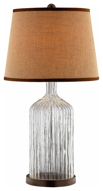 Fletcher Clear Glass Table Lamp.