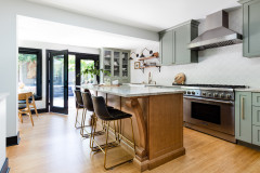 Kitchen of the Week: Soft Green Cabinets and a Wood Island