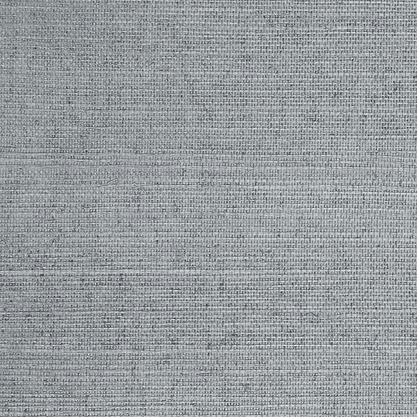 Sisal Blue Grass Cloth Wallpaper, Double Roll.