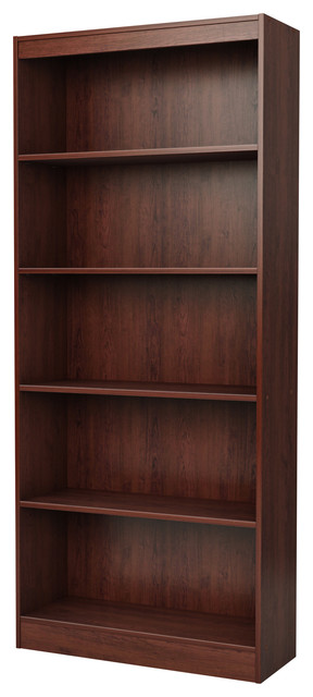 Devon 5-Shelf Bookcase, Royal Cherry.