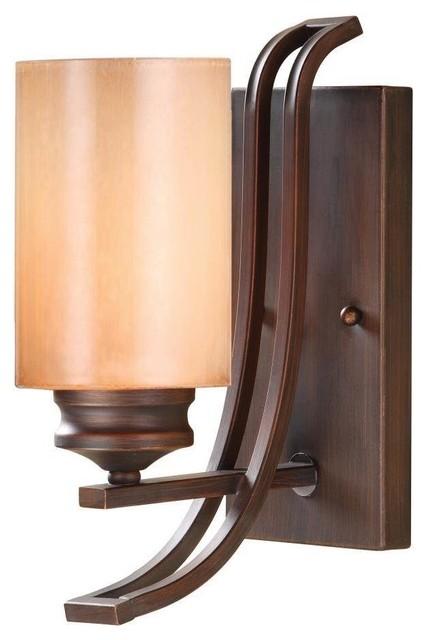 Rustic Bronze Vanity Lights : Golden 1-Light Bath Vanity, Sovereign Bronze - Rustic - Bathroom Vanity Lighting - by Lighting ...