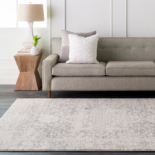 Rachel Vintage-Style Persian Gray Heriz Area Rug, 12'x15' Rectangle