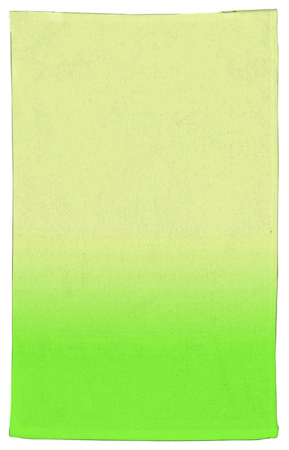 Ombre Lime Green Kitchen Towel, Cotton 18\