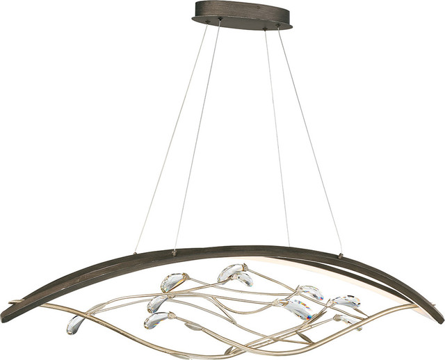 Basilica Blooming Linear LED Chandelier, Bronze