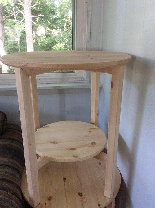 Ikea Pine Unfinished End Tables
