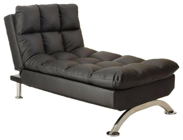 Aristo Contemporary Chaise, Black