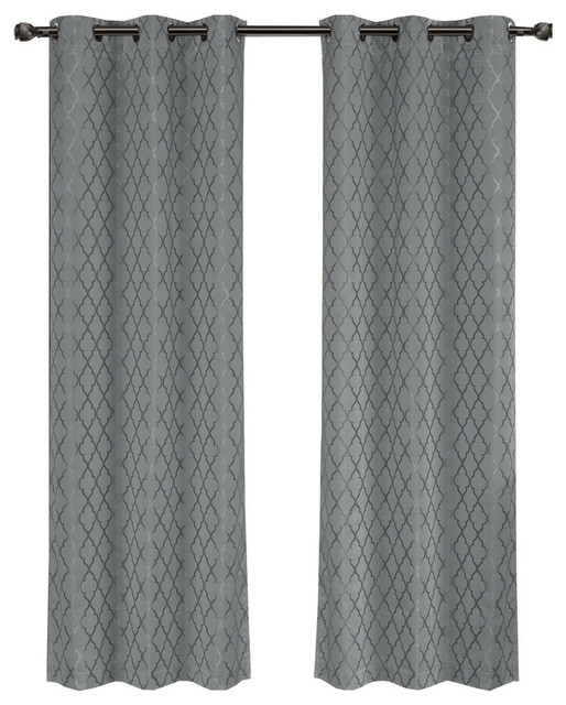 Willow Thermal Blackout Curtains With Grommets
