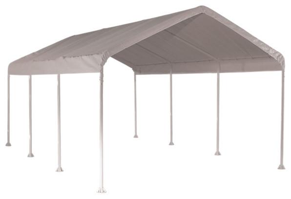 Max Ap 10&x27;x20&x27; Heavy Duty 4, Rib Canopy With White Polythene Cover.