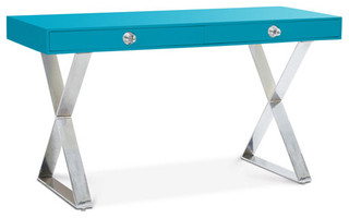 Turquoise Channing Desk modern desks