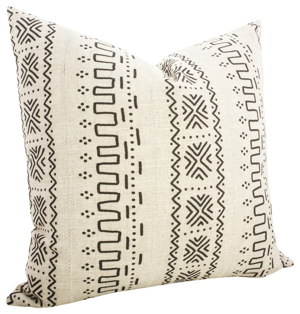 Mudcloth Pillow I - Scandinavian - Decorative Pillows - by TheWatsonShop