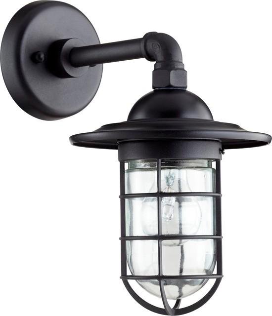 Quorum Bowery 1-Light Wall Lantern, Noir